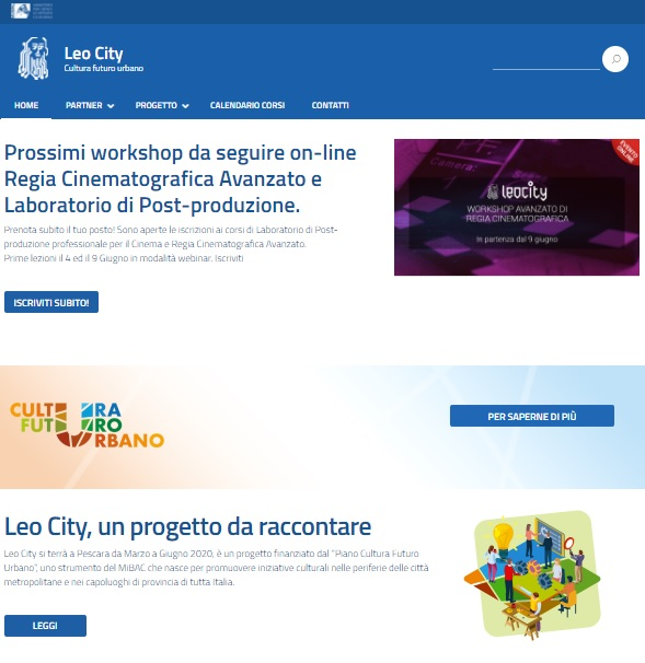Tornano i Workshop di Innovazione Audiovisiva e Digitale di Leo City